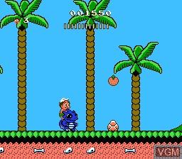 In-game screen of the game Adventure Island II on Nintendo NES