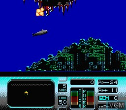 In-game screen of the game Hunt for Red October, The on Nintendo NES