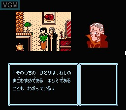 In-game screen of the game Idol Hakkenden on Nintendo NES