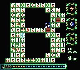 In-game screen of the game Idol Shisen Mahjong on Nintendo NES