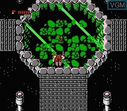 In-game screen of the game Ikari Warriors II - Victory Road on Nintendo NES