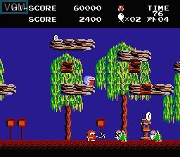 In-game screen of the game Jajamaru no Daibouken on Nintendo NES