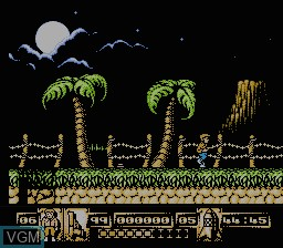 In-game screen of the game James Bond Jr on Nintendo NES