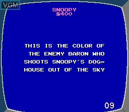 In-game screen of the game Jeopardy! Junior Edition on Nintendo NES