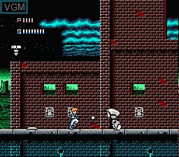 In-game screen of the game Journey to Silius on Nintendo NES