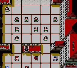 In-game screen of the game Kaettekita! Gunjin Shougi - Nanya Sore! on Nintendo NES