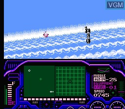 In-game screen of the game Laser Invasion on Nintendo NES