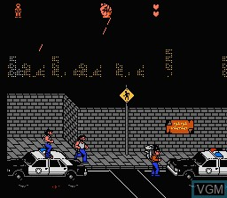 In-game screen of the game Last Action Hero on Nintendo NES