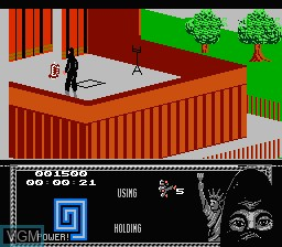 In-game screen of the game Last Ninja, The on Nintendo NES