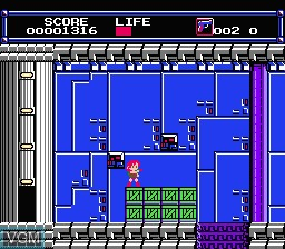 In-game screen of the game Layla on Nintendo NES