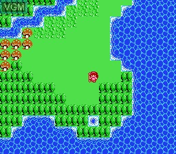 In-game screen of the game Legend of the Ghost Lion on Nintendo NES