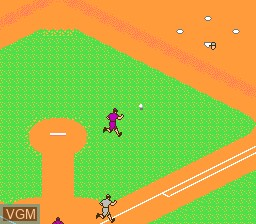 In-game screen of the game Legends of the Diamond - The Baseball Championship Game on Nintendo NES