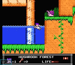 In-game screen of the game Little Nemo - The Dream Master on Nintendo NES