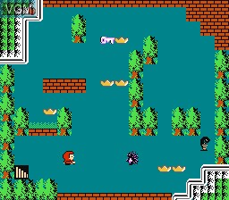 In-game screen of the game Little Red Hood on Nintendo NES