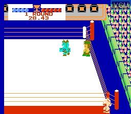 In-game screen of the game M.U.S.C.L.E. on Nintendo NES