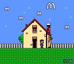 In-game screen of the game M.C Kids on Nintendo NES