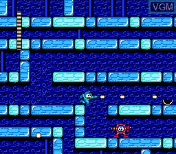 In-game screen of the game Megaman II on Nintendo NES