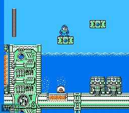 In-game screen of the game Megaman IV on Nintendo NES