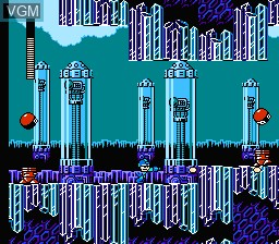 In-game screen of the game Megaman V on Nintendo NES