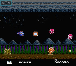 In-game screen of the game Metal Fighter on Nintendo NES