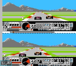 In-game screen of the game Nakajima Satoru - F-1 Hero on Nintendo NES