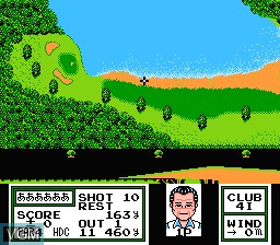 In-game screen of the game Namco Classic II on Nintendo NES