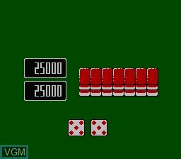 In-game screen of the game Namcot Mahjong 3 - Mahjong Tengoku on Nintendo NES