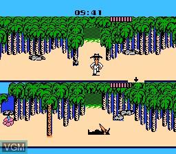 In-game screen of the game Nangoku Shirei!! - Spy vs Spy on Nintendo NES
