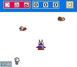 In-game screen of the game Oeka Kids - Anpanman to Oekaki Shiyou!! on Nintendo NES