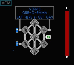 In-game screen of the game Orb 3D on Nintendo NES