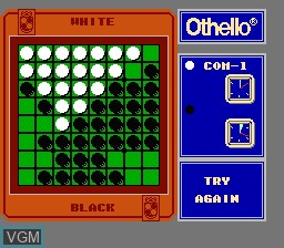 In-game screen of the game Othello on Nintendo NES