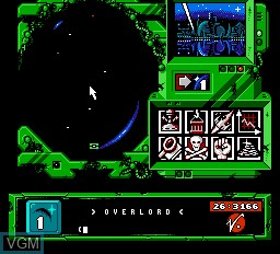 In-game screen of the game Overlord on Nintendo NES