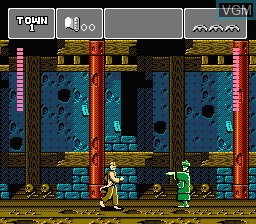 In-game screen of the game Phantom Fighter on Nintendo NES
