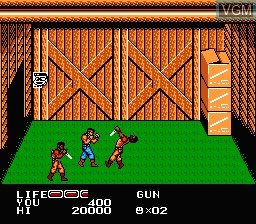 In-game screen of the game P.O.W. - Prisoners of War on Nintendo NES
