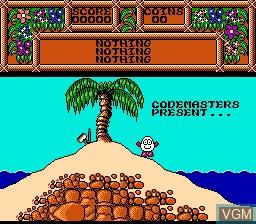In-game screen of the game Quattro Adventure on Nintendo NES