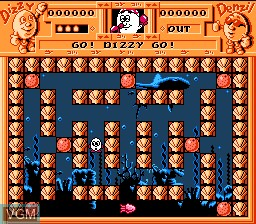 In-game screen of the game Quattro Arcade on Nintendo NES