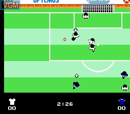In-game screen of the game Quattro Sports on Nintendo NES