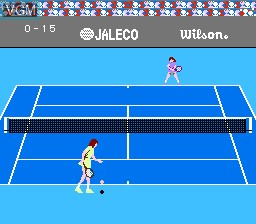 In-game screen of the game Racket Attack on Nintendo NES