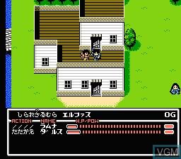 In-game screen of the game Radia Senki - Reimei Hen on Nintendo NES