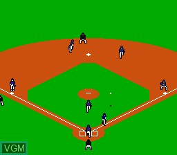 In-game screen of the game R.B.I. Baseball 2 on Nintendo NES