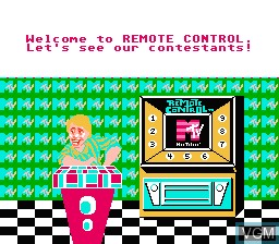 In-game screen of the game Remote Control on Nintendo NES