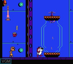 In-game screen of the game Ren & Stimpy Show, The on Nintendo NES