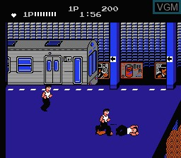 In-game screen of the game Renegade on Nintendo NES