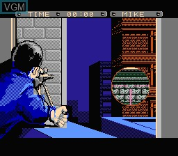 In-game screen of the game Rescue - The Embassy Mission on Nintendo NES