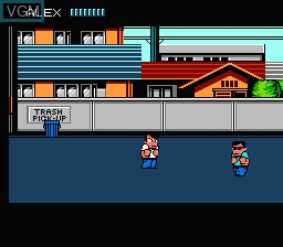In-game screen of the game River City Ransom on Nintendo NES