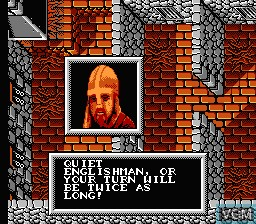 In-game screen of the game Robin Hood - Prince of Thieves on Nintendo NES