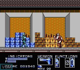 In-game screen of the game RoboCop on Nintendo NES