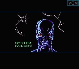 In-game screen of the game RoboCop Vs The Terminator on Nintendo NES
