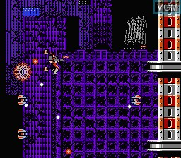 In-game screen of the game S.C.A.T. - Special Cybernetic Attack Team on Nintendo NES