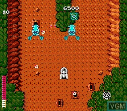 In-game screen of the game Starship Hector on Nintendo NES